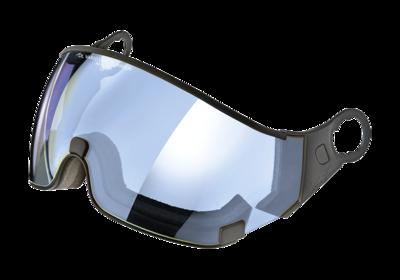 CP 21 Skihelm Vizier Meekleurend - dl vario lens blue mirror CAT. 1-2 (☁/❄) - Voor CP Carachillo, Camurai, Cuma en Curako Skihelmen