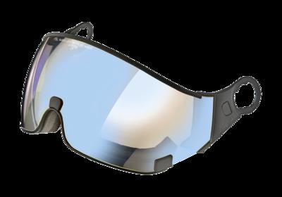 CP 26 Skihelm Vizier Meekleurend & Polariserend Los - Cat. 1-2 (☁/❄) dl vario lens brown pol ice mirror - Voor CP Carachillo, Camurai, Cuma en Curako Skihelmen