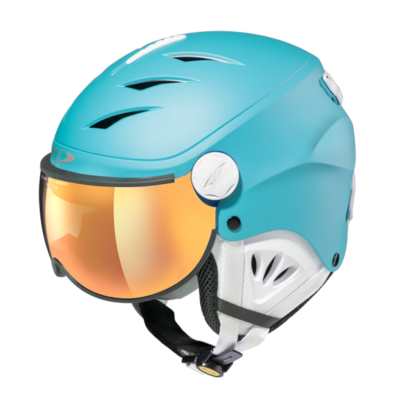 Skihelm met vizier cp camulino -  flash gold mirror  -  ❄/☁/☀
