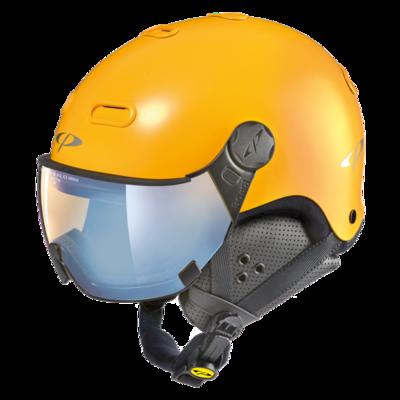 CP Carachillo Skihelm met Meekleurend Polarizerend Vizier -  ☁/❄/☀  - Snowboard helm Geel