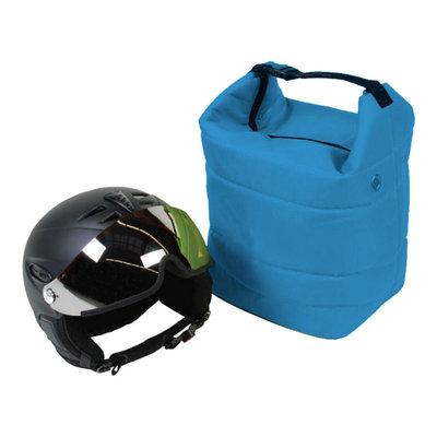skihelm tas blauw ook voor de skibril - voor bescherming helm en bril tegen krassen!