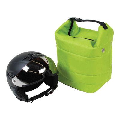 skihelm tas groen ook voor je skibril - voor bescherming skihelm & skibril tegen krassen!