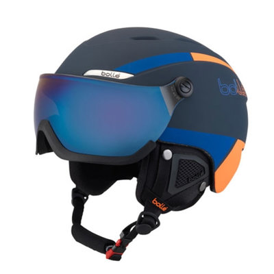 Skihelm met vizier Bollé B-YOND Navy & Orange- Silver Gun-Lemon  ❄/☁/☀