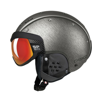 Skihelm Casco SP-6 Vizier - zilver - Photochrom Vautron - cat.1-3(☁/❄)