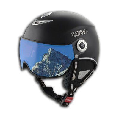 Skihelm Osbe proton snow  - dull black -  Vizier cat. 1-3(☁/❄)