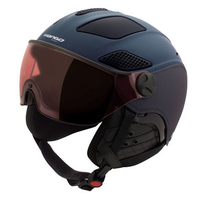 Mango Skihelm quota plus - dark blue mat - meekleurend & polariserend vizier blauw cat. 1 (☁/❄/☀)