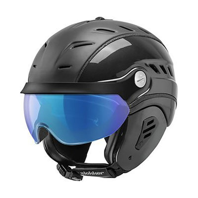 Skihelm Slokker Bakka Multi Layer - zwart - photochromic Vizier  (☁/☀/❄)