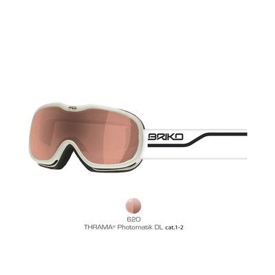 Skibril Briko helium matt white  (☁/☀)