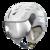 Helm Cuma Swarovski special white Silver Mirror