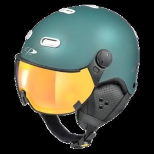 Snowboard helm met Vizier CP Carachillo_blue white_flashGold-mirror