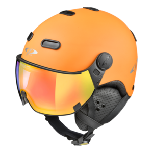 Snowboard helm met Vizier CP Carachillo_orange Dl Vario Lens Multicolour Mirror