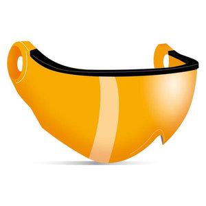 kask piuma R vizier los oranje - visor - visier orange