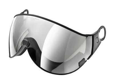 CP 02 clear silver mirror skihelm vizier single lens - mirror visor - visier verspiegelt