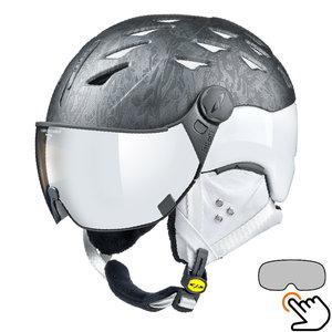 30823_Cp_Cuma_cubic_skihelm_vizier_zwart_wit_vario