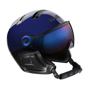 kask chrome blue skihelm met vizier irridium