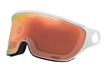 mango skihelm vizier los transparant flash red - visor VAFR1 ersatz visier
