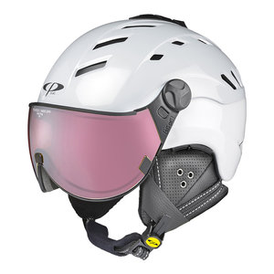 CP CAMURAI SKIHELM - PEARL WHITE SHINY - DL POLARIZED/VARIO VIZIER Cat.3 - (☀) CP10110