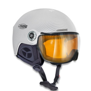 osbe skihelm met vizier dames en heren New Light R Carbon Look white 37816000331