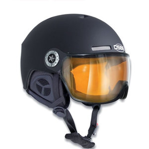 osbe skihelm met vizier dames en heren New Light R Dull Black 37816000081