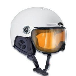 osbe skihelm met vizier dames en heren New Light R Dull White 37816000271