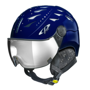 Helm Cuma Swarovski Nightblue Shiny Silver Mirror