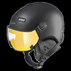 Snowboard helm met Vizier CP Carachillo - black s.t. / black - flash gold mirror