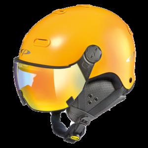 Snowboard helm met Vizier CP Carachillo vario - maize s.t. / maize - dl vario lens mc mirror